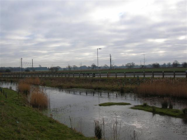 Pond, Road and Railway