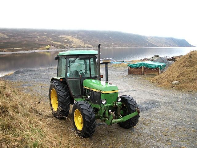 Tractor by Loch Ericht