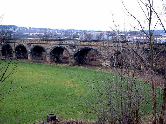 Viaduct that carried Disused Railway, Dewsbury