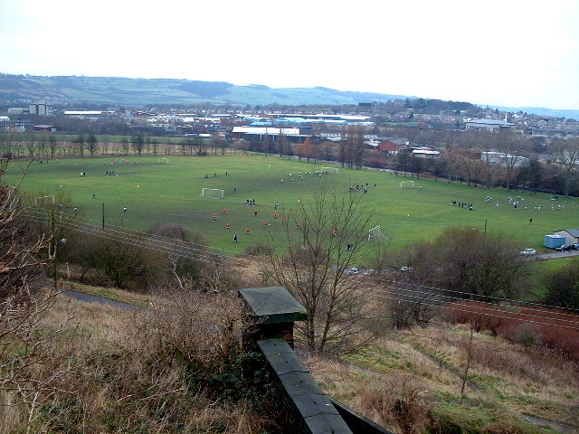 Playing Fields in a bend in the River Calder