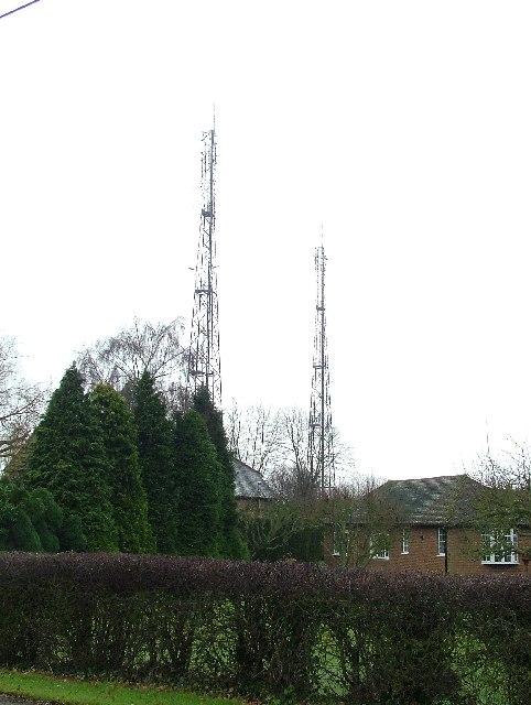 Transmitter masts at Streatley