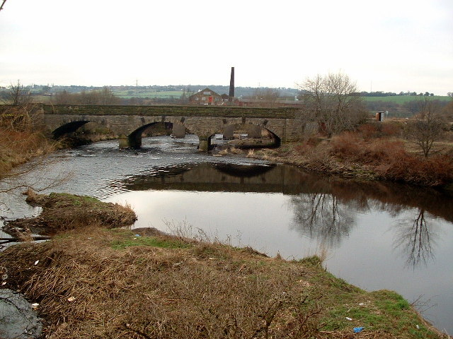 Railway Bridge over the River Calder hear Healey