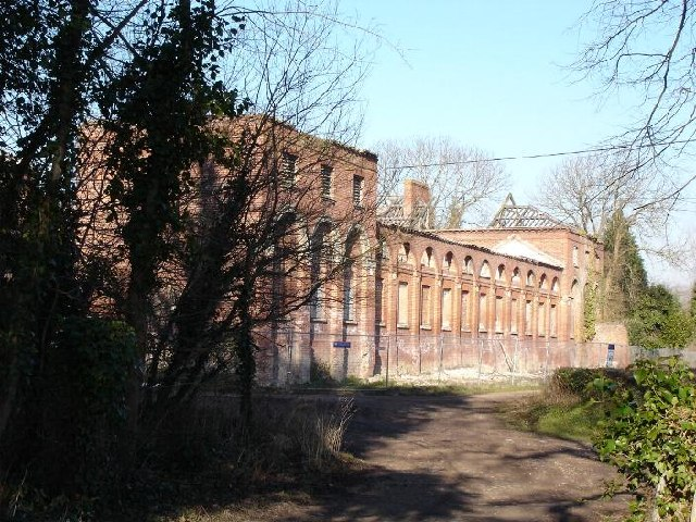 Derelict buildings next to Lleweni Hall