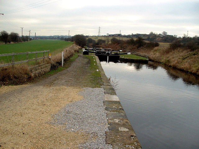 Looking down the lower of Figure of Three Locks.