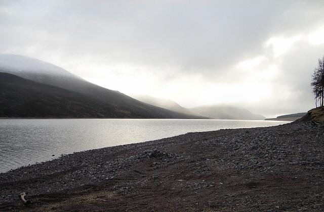 Southwards along Loch Ericht