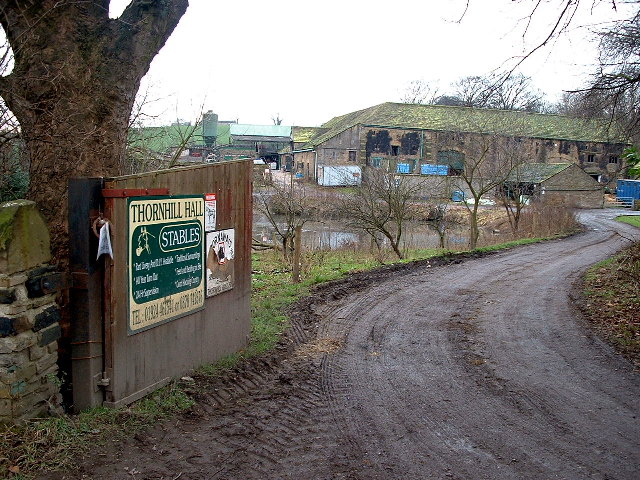 The Entrance to Thornhill Hall Stables