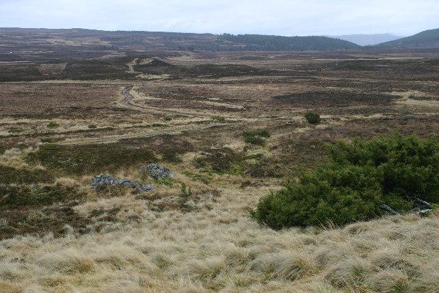 Moorland track near Easter Crannich