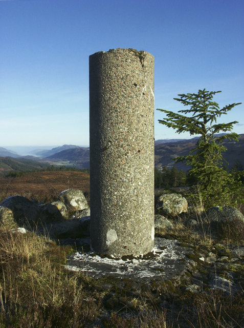 Triangulation Pillar, Meall nan Reitheachan, Inverness-shire