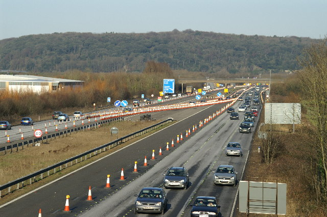 M5 looking North to junction 20