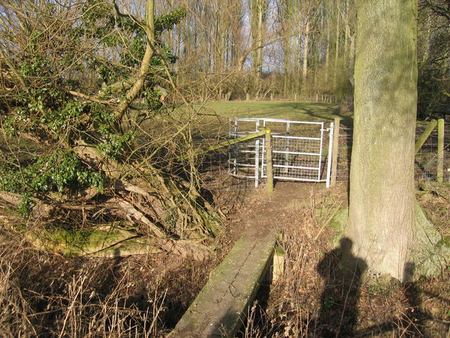 Footpath and Bridge near Rushy Close Spinney
