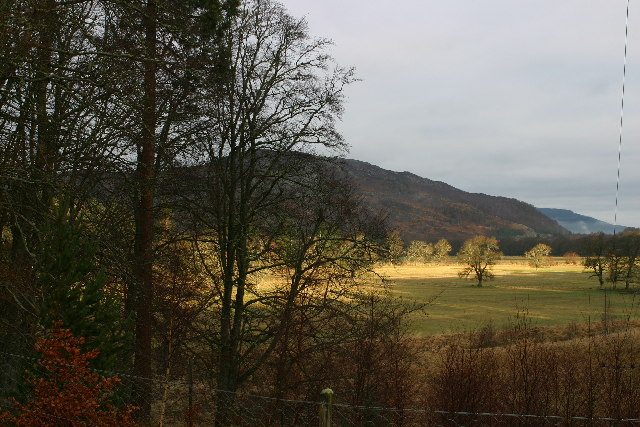 Sunlight on the Spey valley near Doune