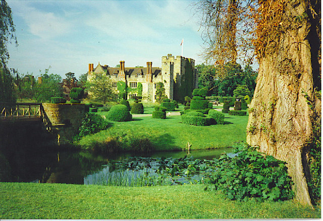 Hever Castle from the South-west.