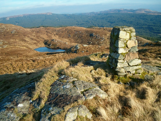 Summit of Beinn Dubh Airigh, looking north-east
