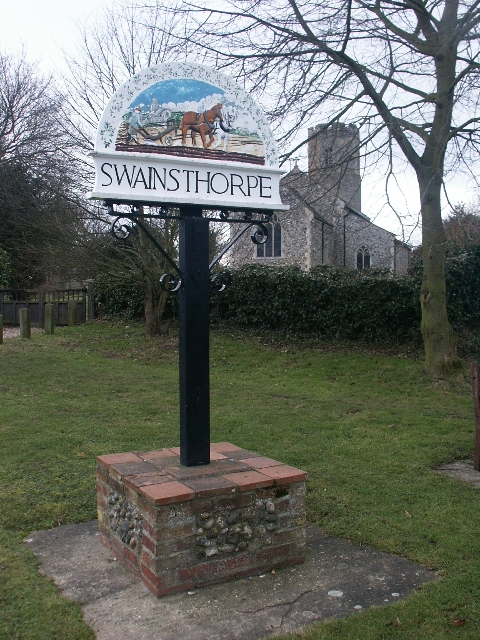 Village sign, Swainsthorpe