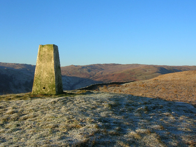 Ordnance Survey Triangulation Pillar on North Side (1108'/338m)