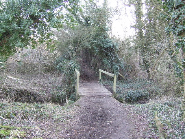 Bridlepath across Haseley Brook, Nature Reserve between Gt Hasley and Little Milton