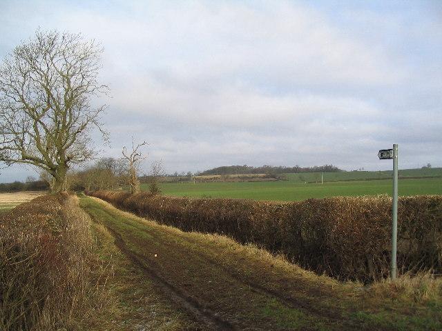 Bridleway near Market Overton