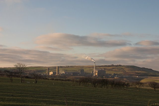 Boulby Mine from near Borrowby
