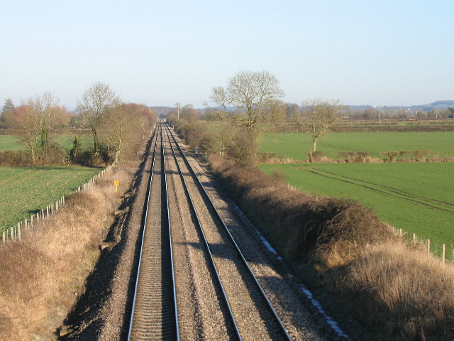 Westbury-London Main Line at Cowleaze Lane Edington