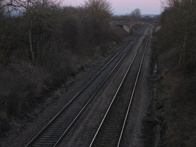 Railway near Edington