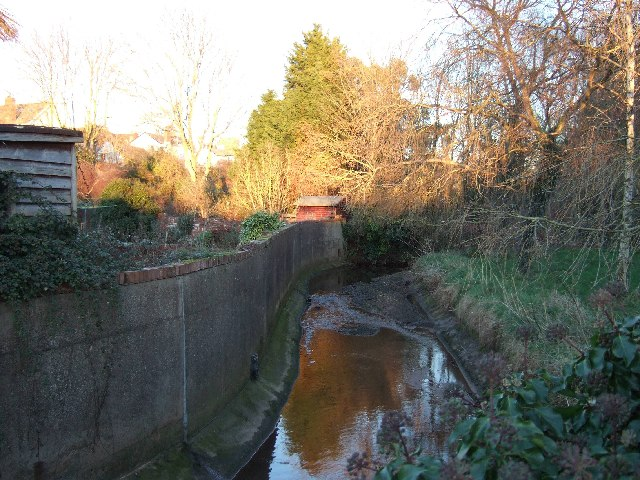 Stream running through Lympstone