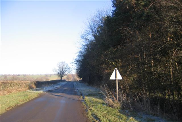 Slippery road.