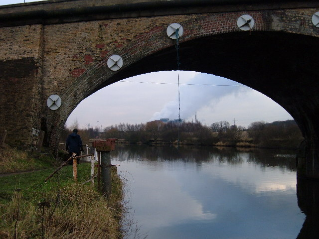 Railway bridge over the River Aire