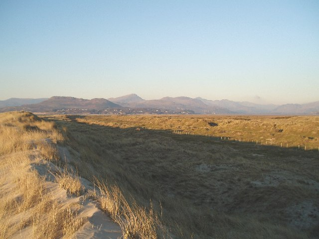 The dunes on Morfa Harlech