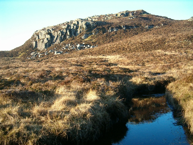 Crag north of Loch na Creige Maolaich
