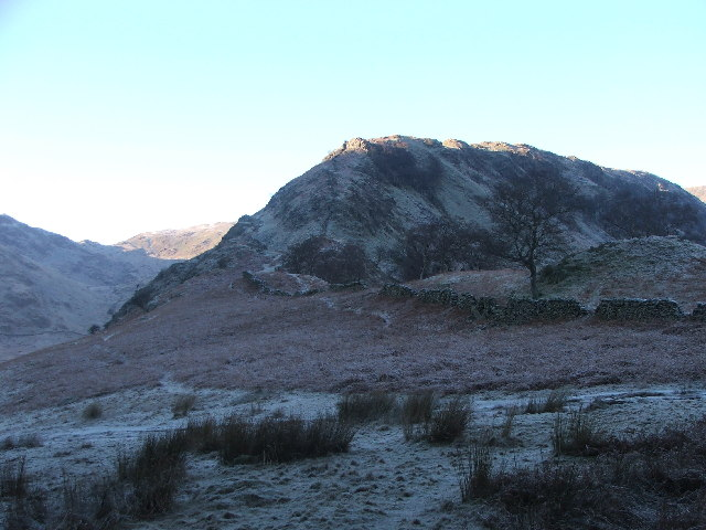 Swine Crag on a frosty morning.