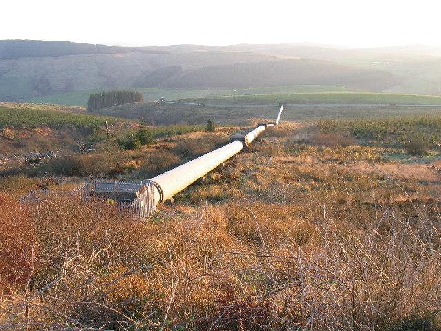 Lussa Dam pipeline, Glen lussa, Kintyre.