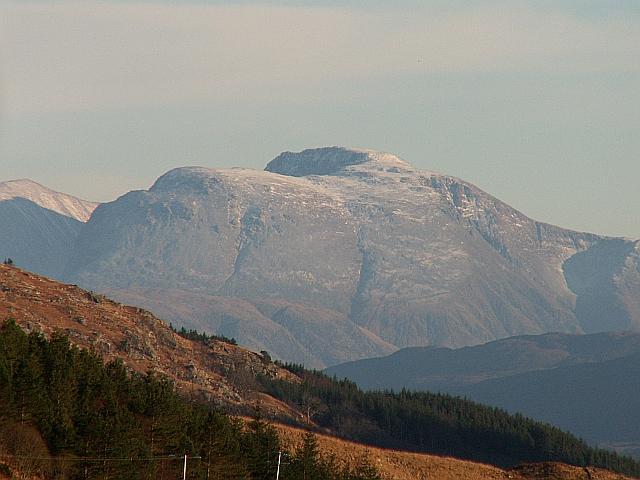 The Ben from above Glen Finnan