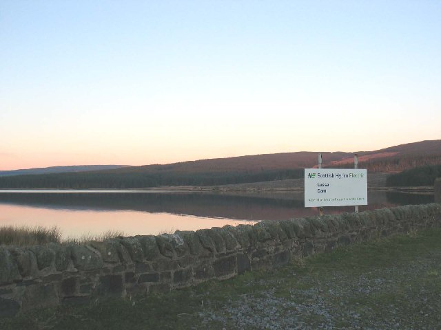 Lussa loch looking north from the Dam.