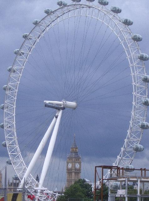London Eye circling Big Ben
