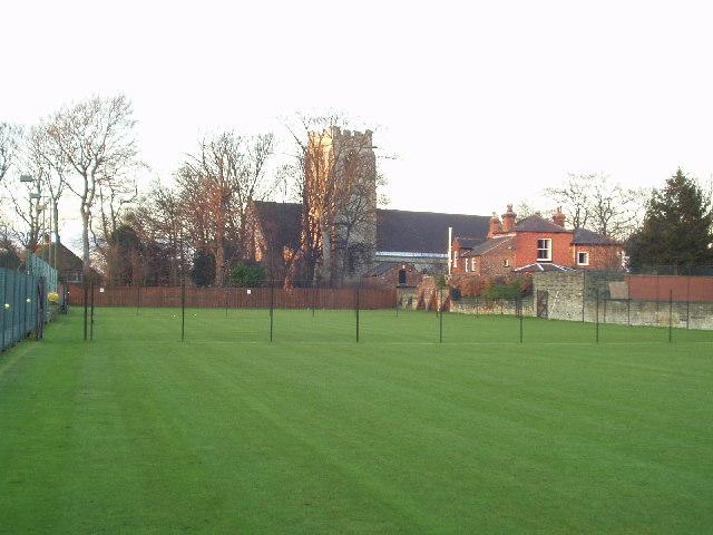 Tennis courts in winter, Chapel Allerton, Leeds