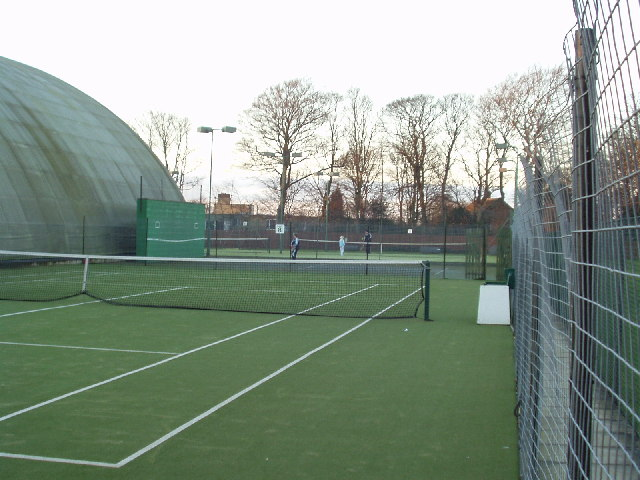 Tennis in the cold, Chapel Allerton, Leeds