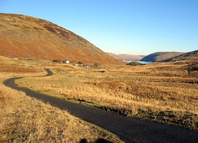 Meggethead and reservoir beyond