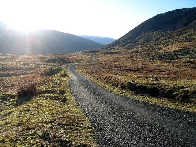 Road to Tweedsmuir from Megget Reservoir
