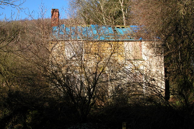 Derelict cottage in the Slad valley