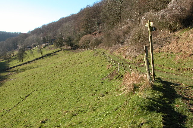 A junction of footpaths in the Slad valley