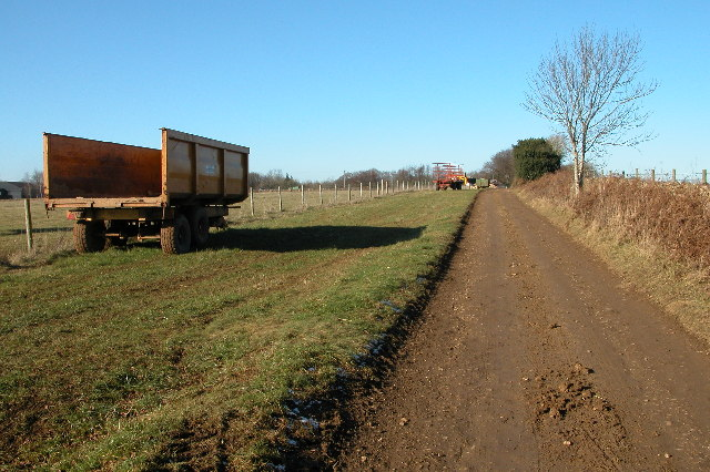 Farm trailers near Down Barn Farm, Slad