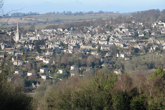 Painswick viewed from across the valley
