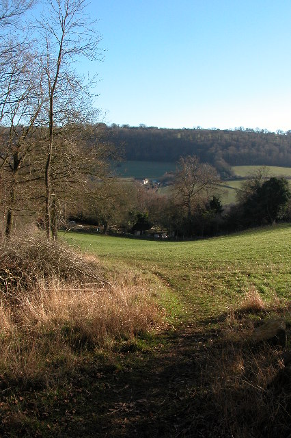 View across the Slad valley to Knapp Lane