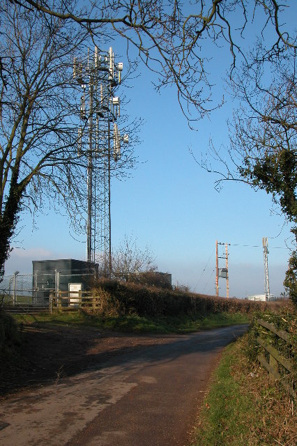 Mobile phone masts at Glewstone