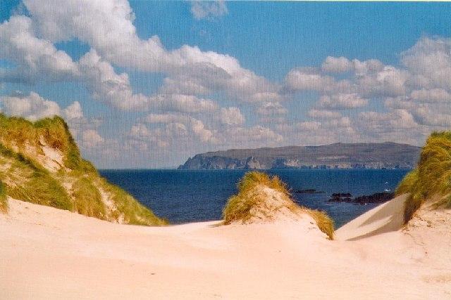 Sand dunes at Faraid Head, Sutherland.