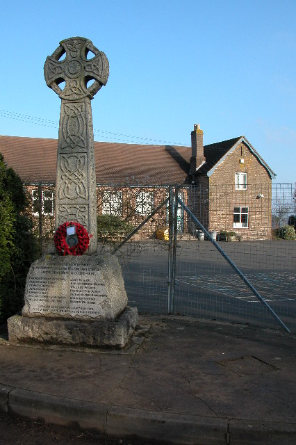 War Memorial and Primary School at Llangrove