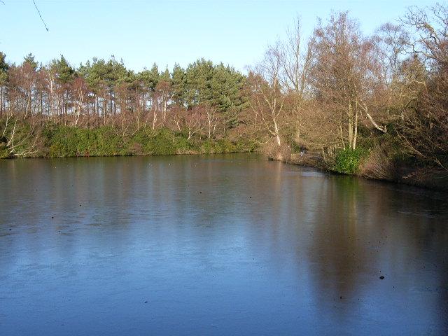 Rapley Lake, frozen