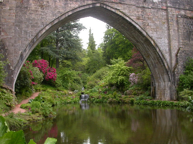 Bridge at Kildrummy Gardens