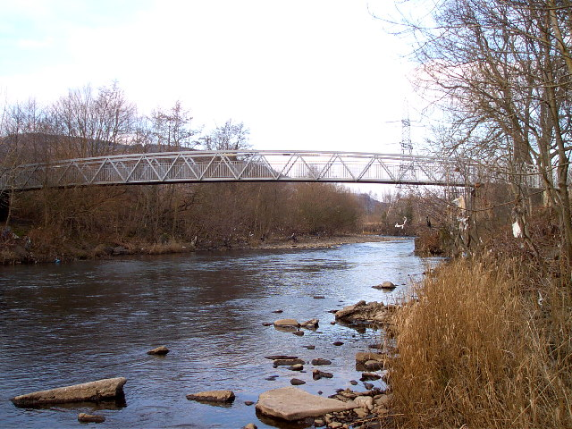 Cycleway bridge on River Taff