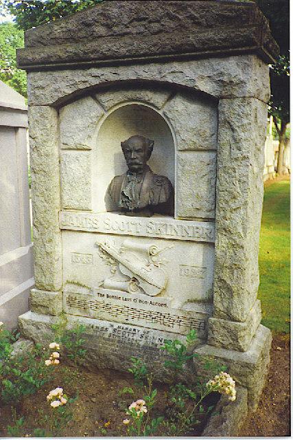 James Scott Skinner Gravestone, Allanvale Cemetery.
